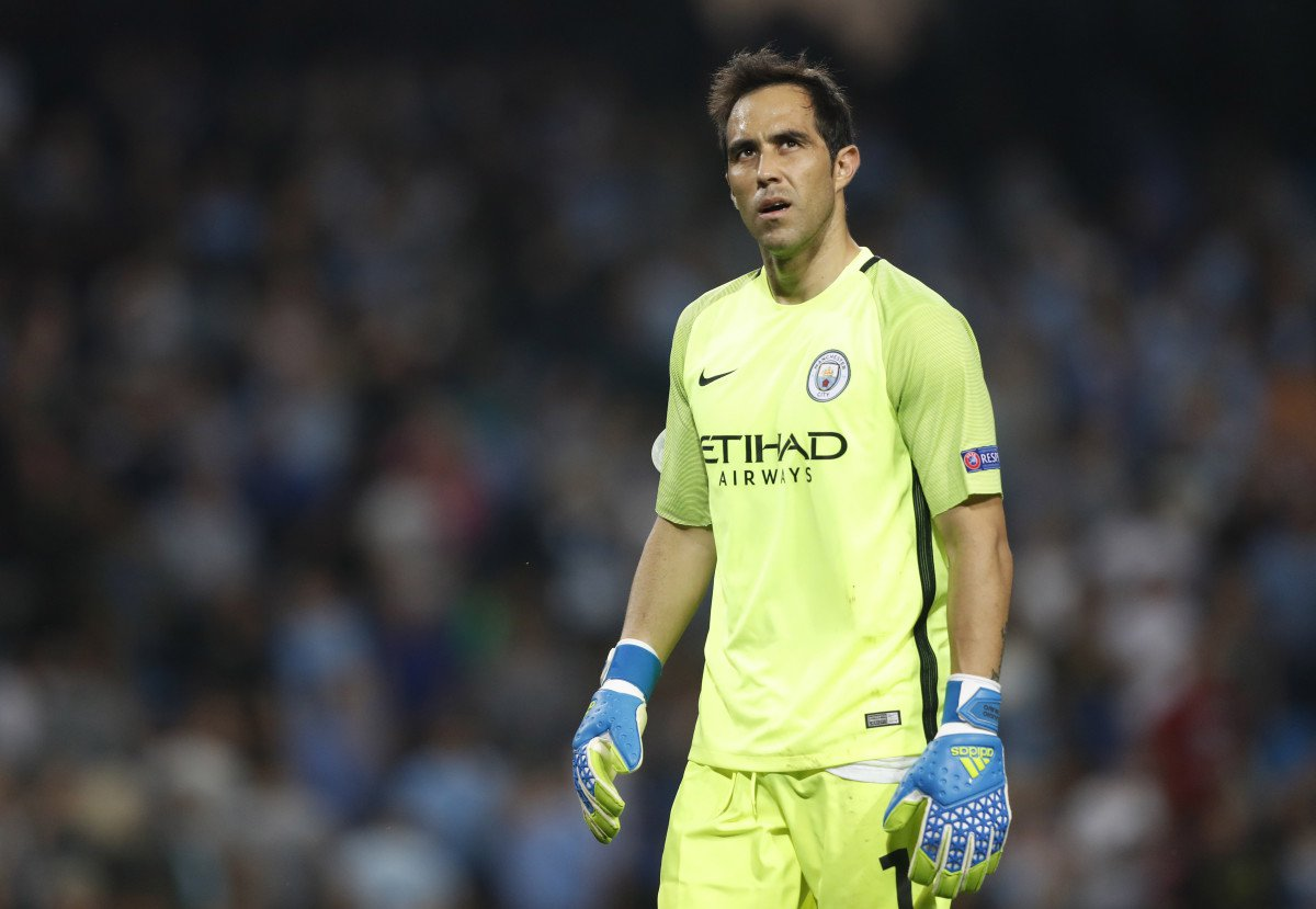 Claudio Bravo Out of Season after Manchester Derby Injury.