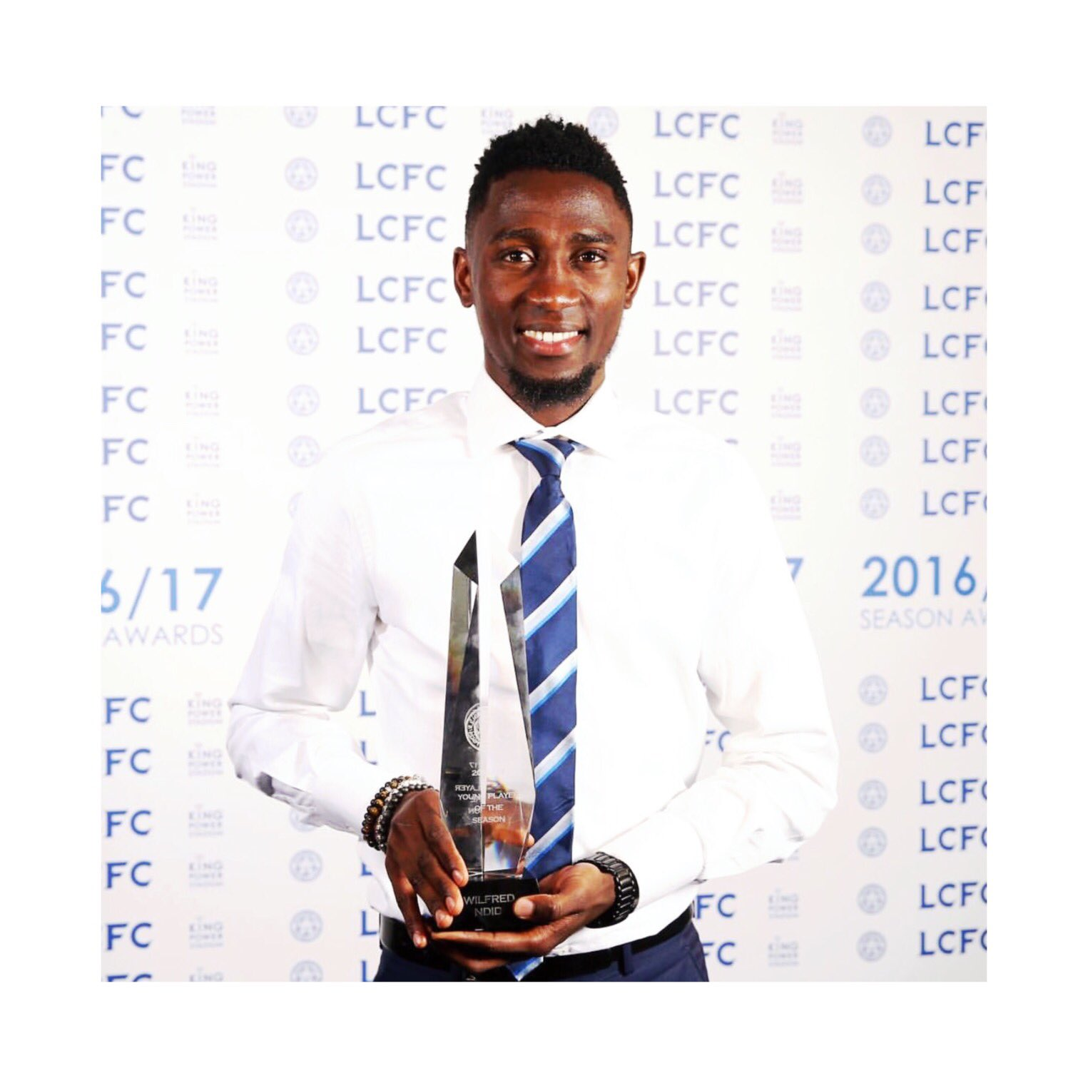 Wilfred Ndidi wins Leicester City's Young Player of the Year award.