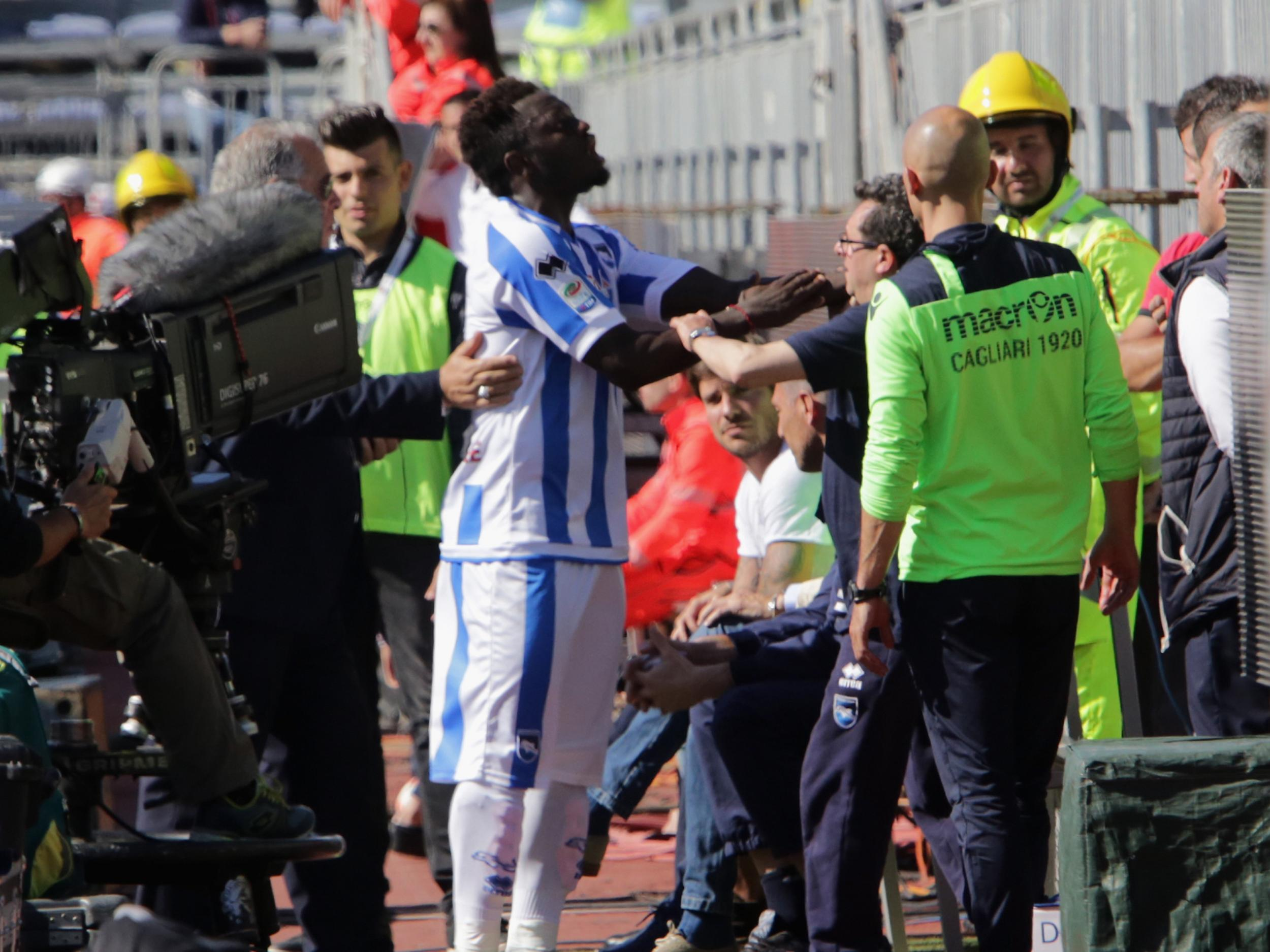 Sulley Muntari: Walk off the pitch if you feel racially abused, authorities don't take it serious
