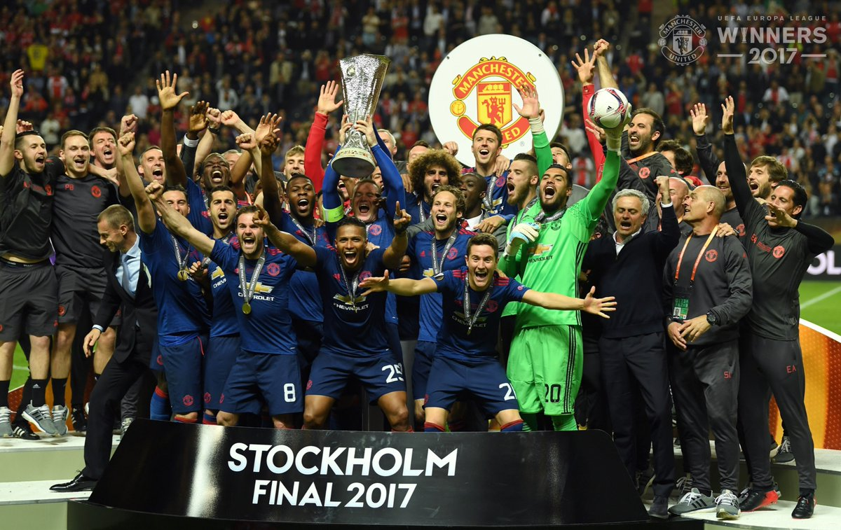 Manchester United Europa League Triumph in Pictures