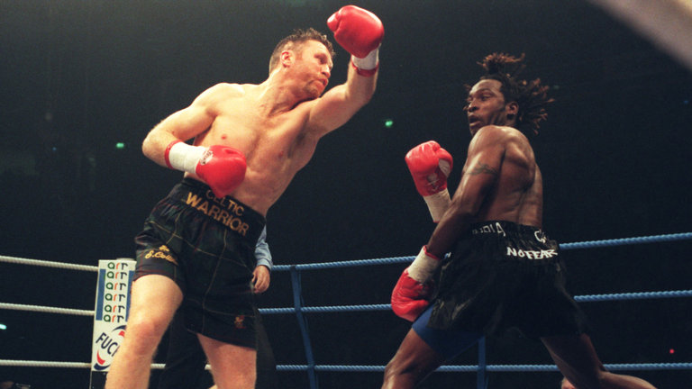 Nigel Benn and Steve Collins agrees to rematch- 21 years after they last fought