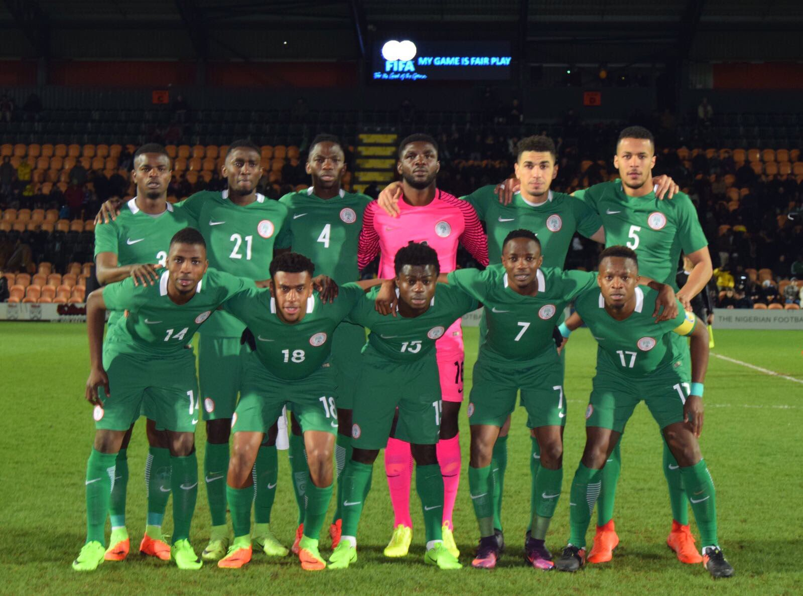 Super Eagles are ready for Bafana Threat