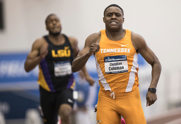 American student Christian Coleman smashes college 100m record with 9.82sec dash
