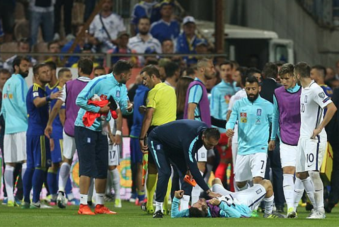 Bosnia coach knocks out Greece player's tooth in brutal brawl