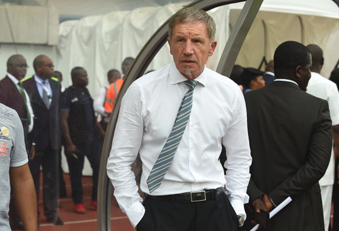South African Players and Baxter MOCK Nigeria in Dressing Room Celebrations