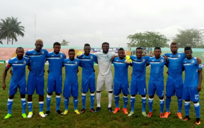 Enyimba 2-1 Abia Warriors: Udoh's brace settles ill-tempered derby