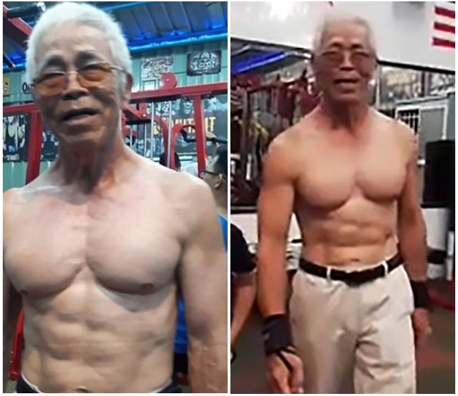 A 72-year-old Grand Pa is the Strongest Man in Taiwan?