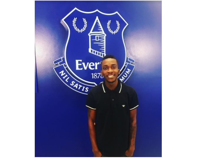 Onyekuru Staying Put in Belgium, Poses in picture with Everton Crest