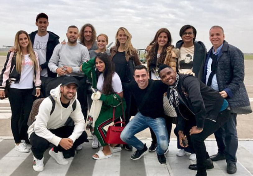 Football's A Lists touch down in Argentina ahead of Lionel Messi and Antonella Roccuzzo's wedding