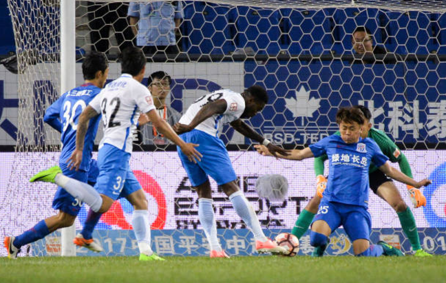 Brown Ideye's brace Cancels out Obafemi Martins' Opener in Tianjin Teda 2-1 win
