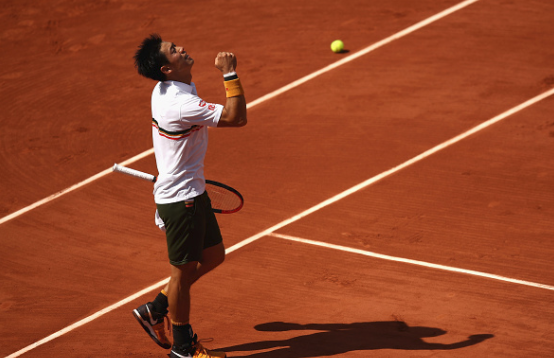 Kei Nishikori through to face Andy Murray at Roland Garros