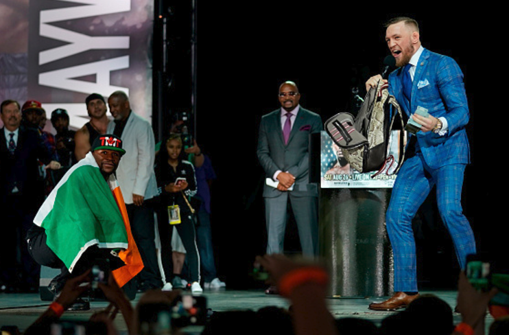 Mayweather 0-2 McGregor: UFC Star carpets the Money Man on second World Tour appearance