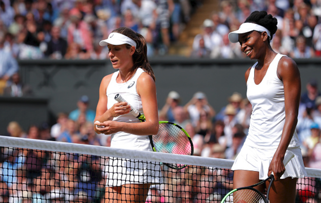 Venus Williams jokes about wishing Serena could play Wimbledon final for her after defeating Konta