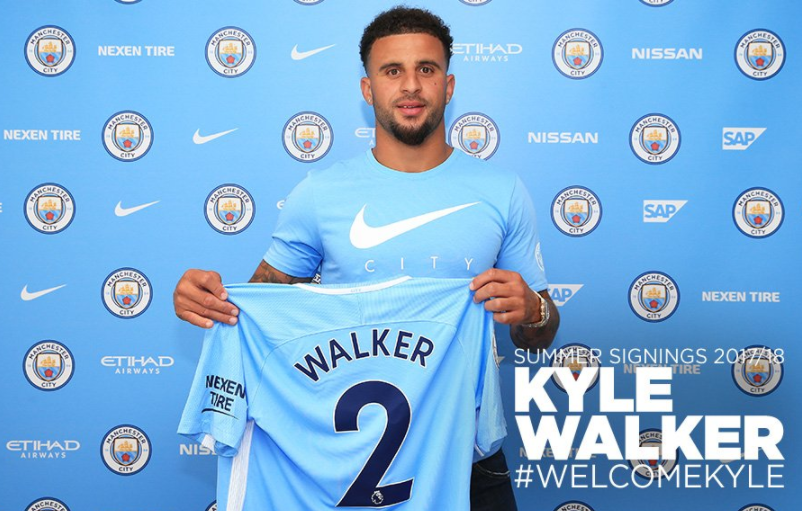 Kyle Walker becomes world's most expensive defender