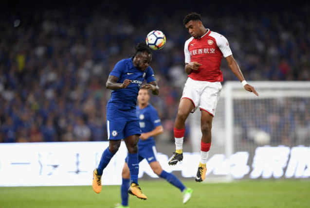 Victor Moses Outshine Alex Iwobi as Chelsea hammers Arsenal 3-0 in China