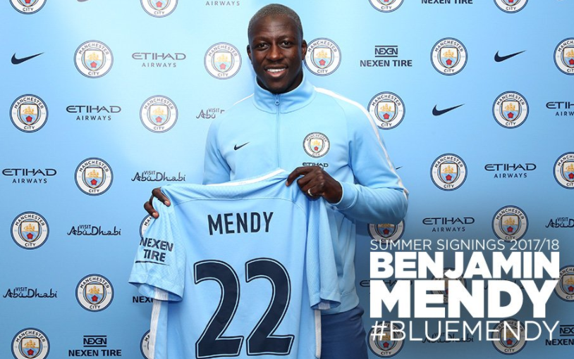 Manchester City Completes £52M move for Benjamin Mendy on 5-Year Deal
