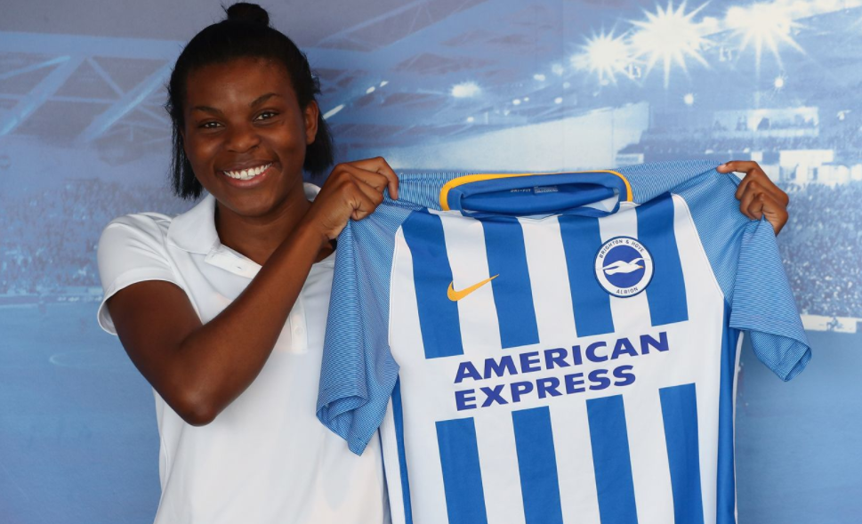 Super Falcons Striker joins Brighton and Hove Albion