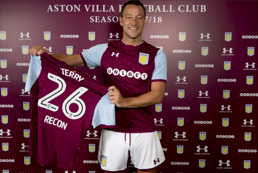 Stand By Me! Classic John Terry sings during Aston Villa Initiation