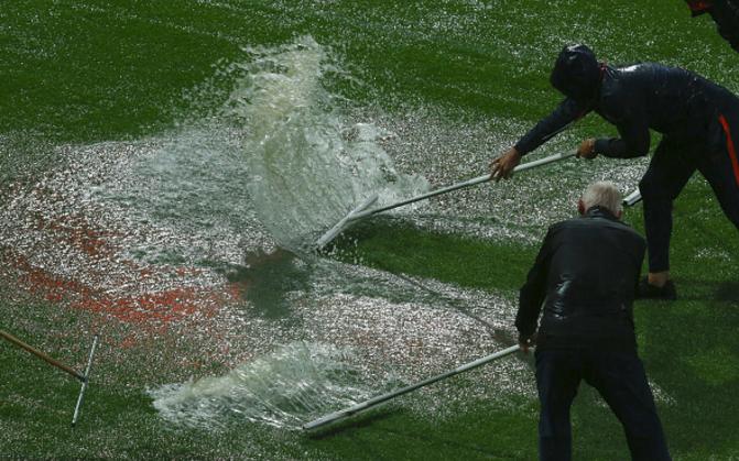 Thought Agege Stadium was Terrible? Waterlogged Rotterdam Stadium Halts Euro Women's Championship fixture