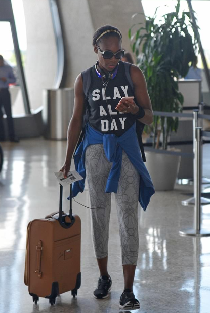 Slay all Day! Bizarre Shirt print Venus Williams wore as she fights lawsuit from family who accuse her of causing fatal crash