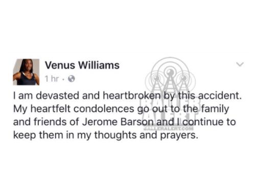 """""""Devastated"""" Venus Williams pelleted with Car Crash queries"""