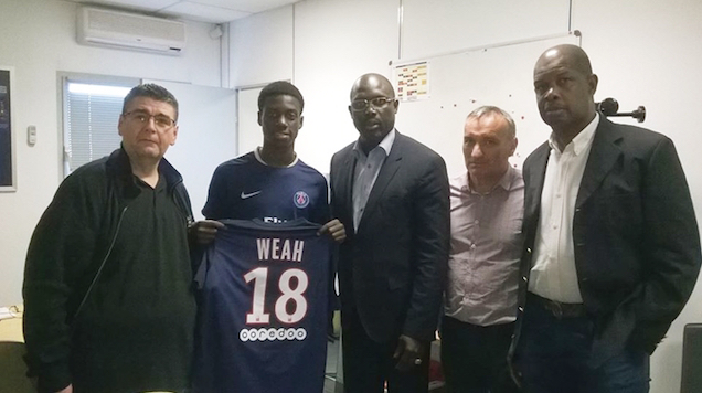 George Weah's Son signs for Paris Saint-Germain