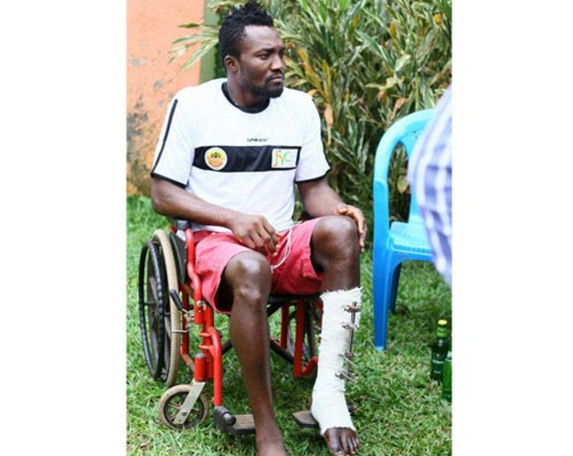 Nigerian Player could have leg amputated because his Uganda club can't foot the Medical Bills