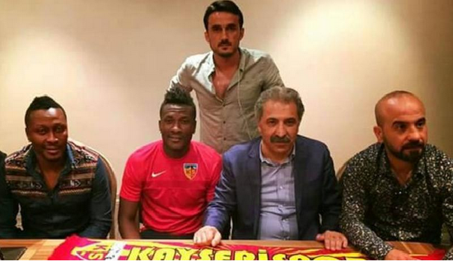 Ghana striker Asamoah Gyan signs for Turkey's Kayserispor