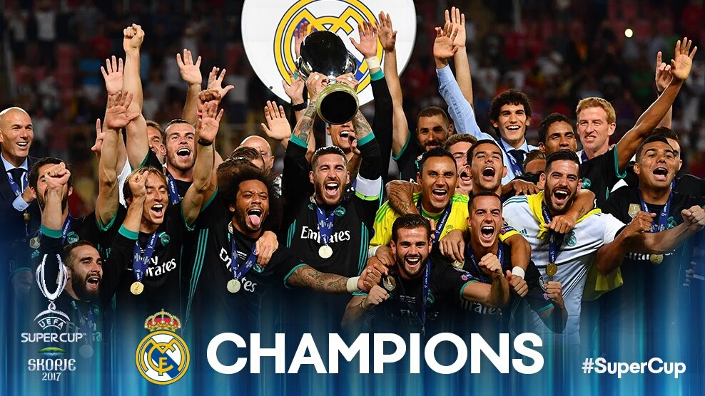 Kings of Europe! Real Madrid beat United 2-1 to secure UEFA super cup