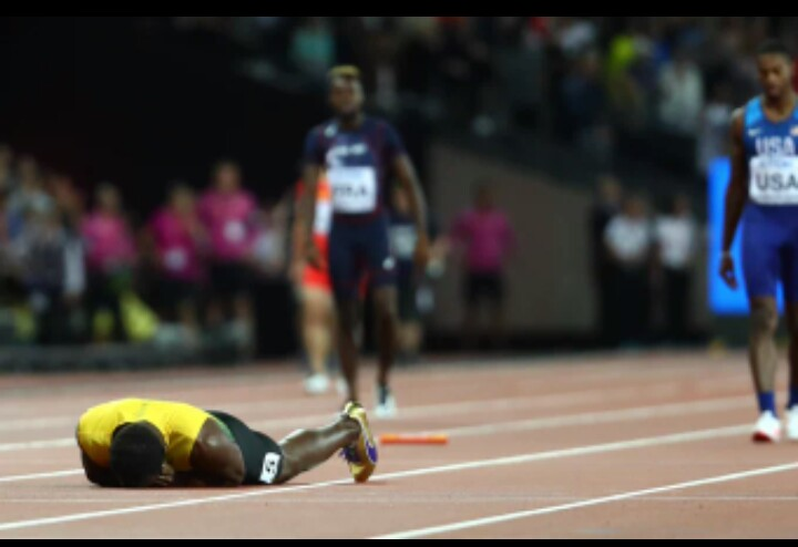 Awful! Usain Bolt injured in 4x100m final Race