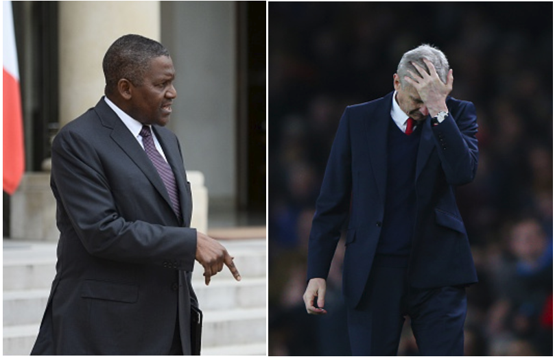 #WengerOut ! Dangote Vows to End Wenger 's Reign If he becomes Arsenal Owner