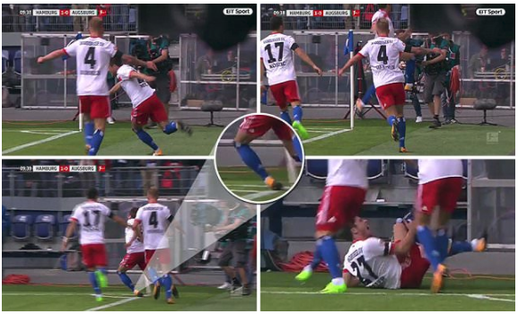 Ouch! Hamburg Nicolai Muller  ruptures Ligament in wild Goal Celebrations, Out for Seven Months
