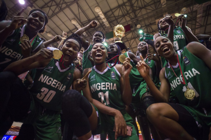 Triumphant D'Tigress Fly into Lagos with AfroBasket Trophy