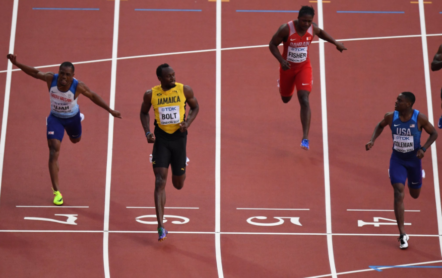 World Championships: Usain Bolt reaches 100m final but finishes semi-final behind Coleman