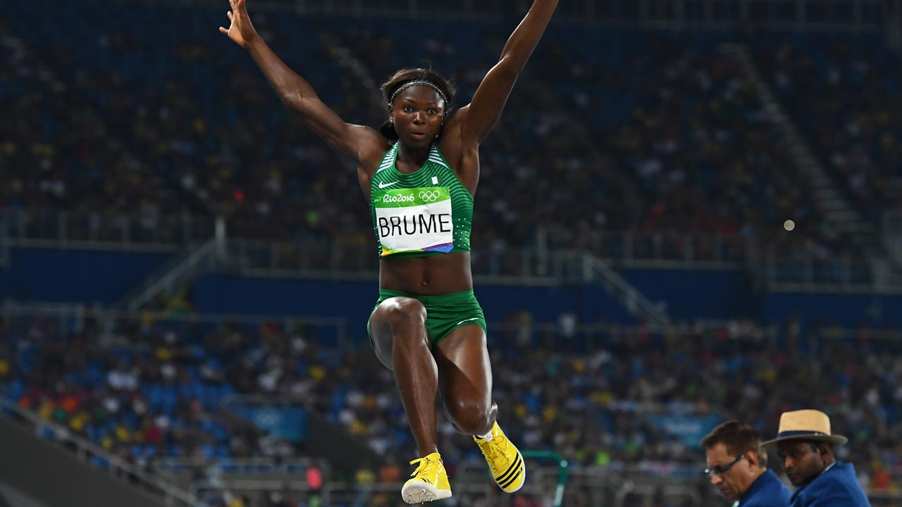 Brume, Okagbare begin medal chase in long jump