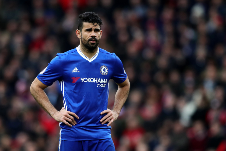 Diego Costa's transfer standoff with Chelsea takes a new twist as striker moves out of Surrey house