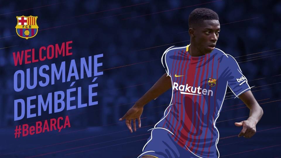 FC Barcelona completes Ousmanne Dembele signing