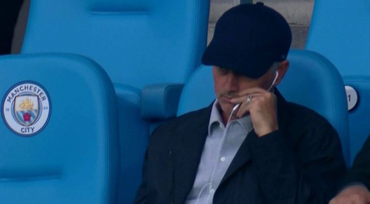 Manchester United fans joke Jose Mourinho is at the Etihad to scout Wayne Rooney against Manchester City
