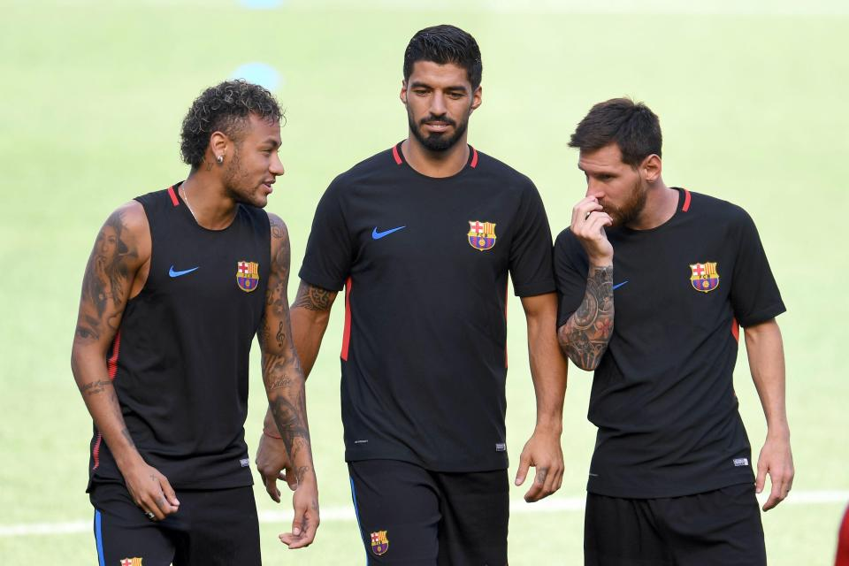 Neymar jr, Suarez, Messi