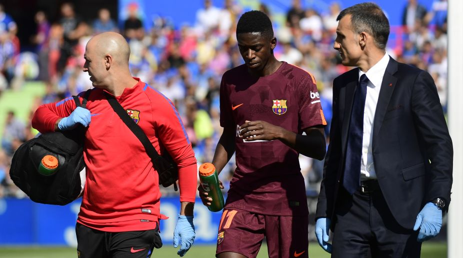 Barcelona winger Ousmane Dembele out of action for 3-4 months