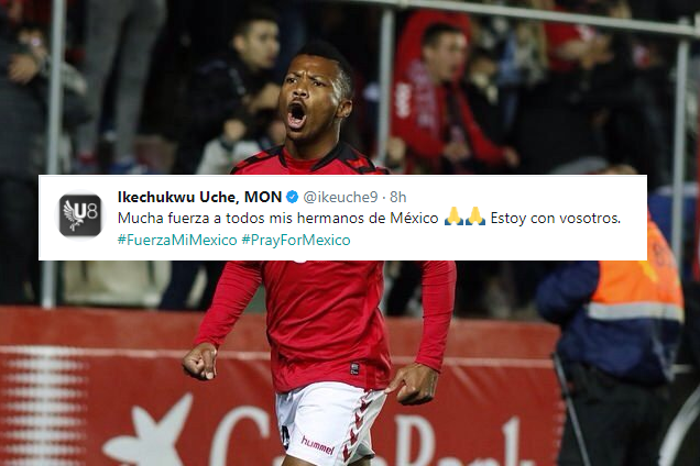Ike Uche sends Emotional Message to Mexico after devastating Earthquake