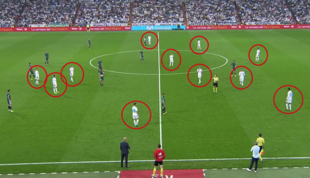 Real Madrid had 12 men on the pitch during Real Betis defeat!