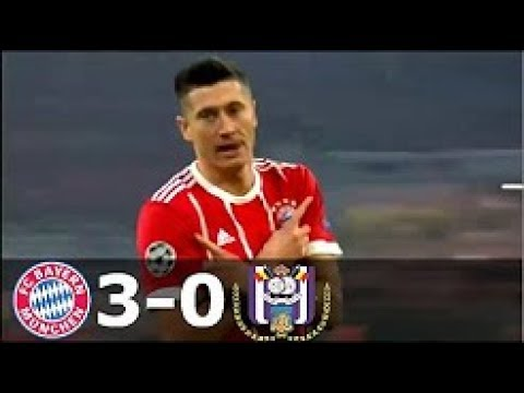 Bayern Munich vs Anderlecht 3-0 UCL Highlights
