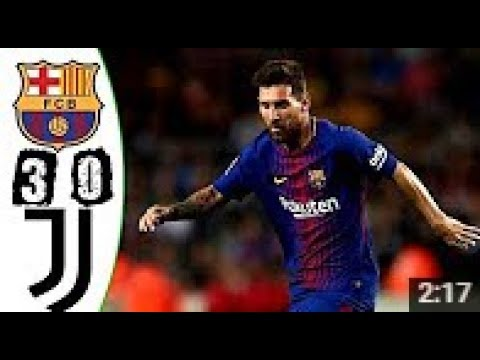 Barcelona vs Juventus 3-0 Highlights