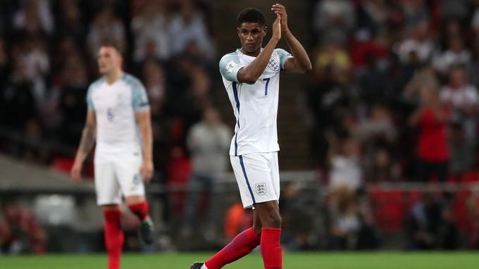 Southgate praised match-winner Marcus Rashford as England came from behind to beat Slovakia