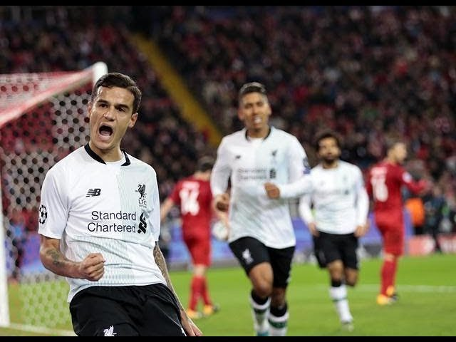 Champions League Highlights. Spartak Moscow v Liverpool 1-1.