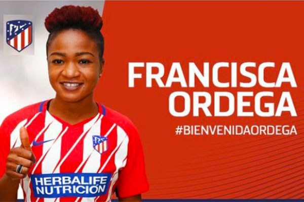 Super Falcons' attacker, Francisca Ordega explains Atletico Madrid move