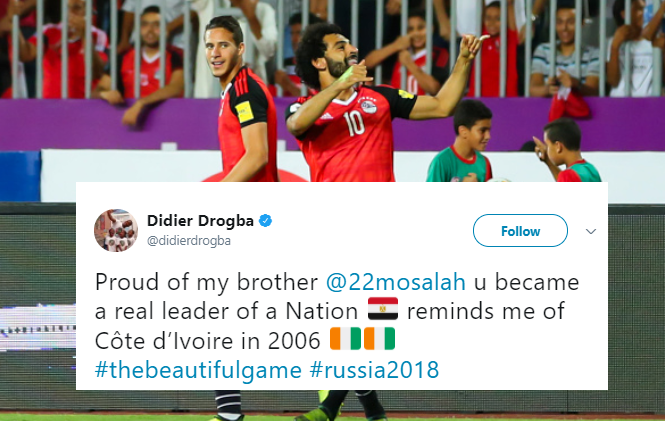 Real Pharaoh! Didier Drogba Hails King of Egypt, Mo Salah