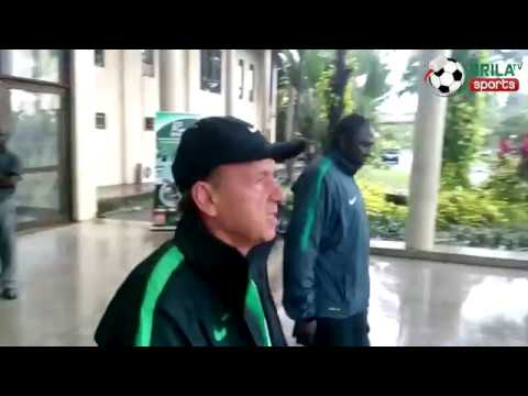 2018 FIFA WCQ: Super Eagles' commence full training under heavy rain in Uyo (Video)