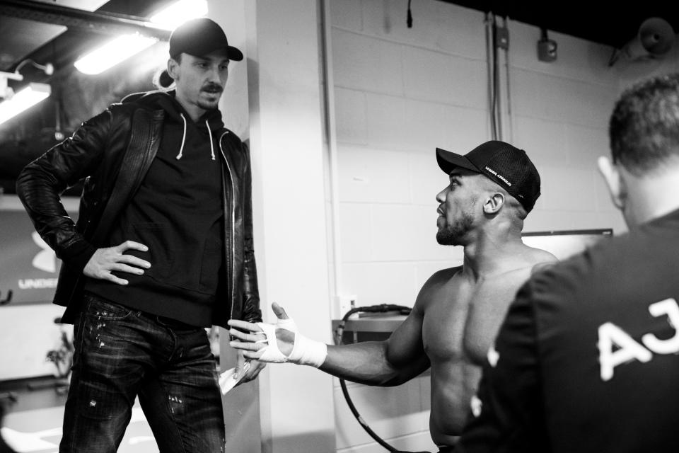 Zlatan Ibrahimovic describes Anthony Joshua as 'perfect example' of a champion